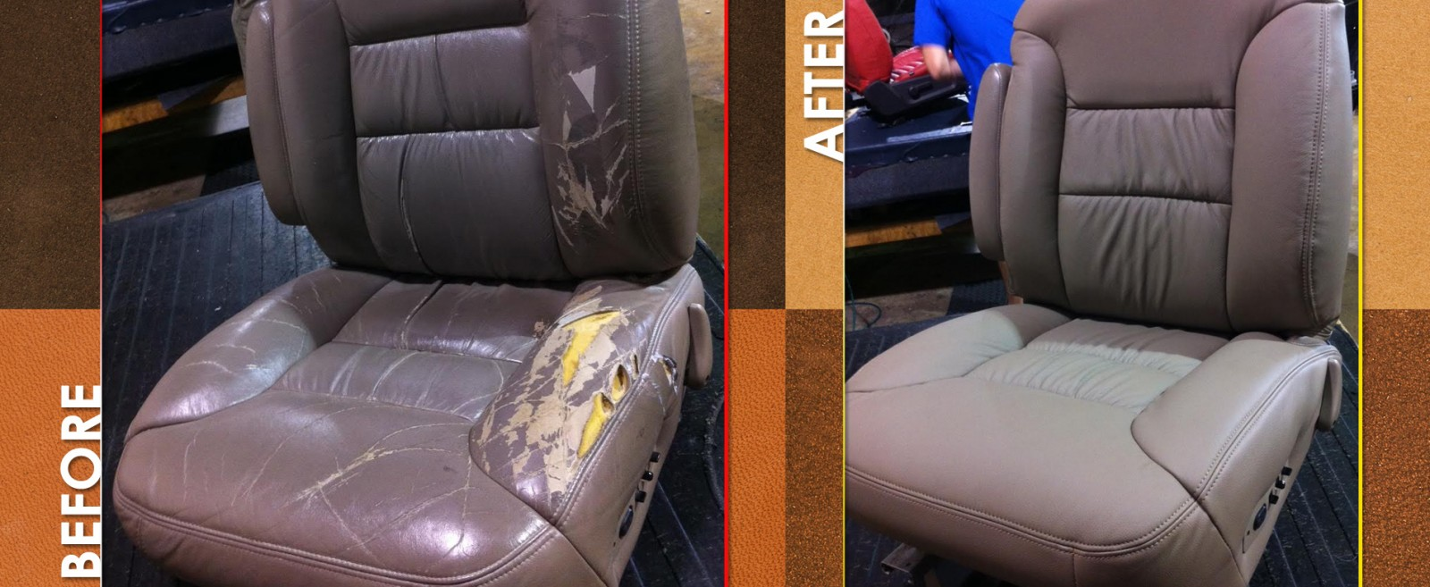cost to reupholster car seats with leather. Black Bedroom Furniture Sets. Home Design Ideas